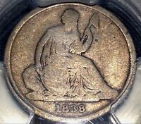 1838 O SEATED DIME PCGS G6 NICE TYPE FRESHLY SLABBED BY CHN
