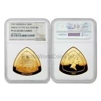 BERMUDA 1997 WRECK OF THE SEA VENTURE $60 1 OZ GOLD NGC PF63 ULTRA CAMEO