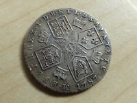 GEORGE III SIXPENCE 1787 SILVER WITHOUT SEMEE OF HEARTS MYREFN11985