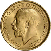 GREAT BRITAIN GOLD SOVEREIGN   KING EDWARD OR GEORGE   RANDOM DATE 1911 1932 BU