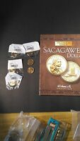 SACAGAWEA DOLLAR LOT  2003 P D 2000 D COLLECTORS BOOK TRI FOLD  WITH 6 COINS