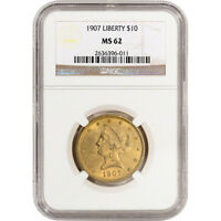 US GOLD $10 LIBERTY HEAD EAGLE   NGC MS62   RANDOM DATE