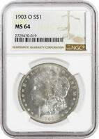 1903 O $1 MORGAN SILVER DOLLAR VAM 16 DOUBLED PROFILE HIGH O NGC MINT STATE 64