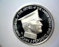 1968 GEN JOHN PERSHING STERLING SILVER PROOF MEDAL NCS .925 FINE  1 OZ ASW