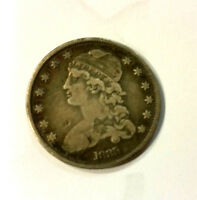 1835 CAPPED BUST QUARTER. FINE DETAILS. BEAUTIFUL NATURAL TONE.