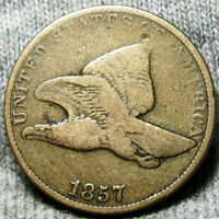 1857 FLYING EAGLE CENT ---- TYPE PENNY ---- O478