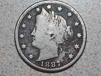 1887 LIBERTY NICKEL  COIN J-764