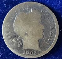 1902-P BARBER DIME 90 SILVER A.GOOD? ULTRA LOW FIXED PRICEF78