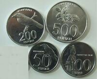 INDONESIA 5 PIECE UNCIRCULATED COIN SET 25 TO 500 RUPIAH