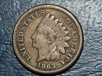1863 INDIAN HEAD CENT NICE COIN  2538