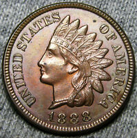 1888 INDIAN HEAD CENT PENNY     GEM BU CONDITION     A346