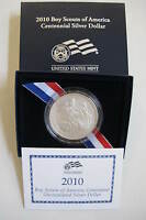 2010 BOY SCOUTS OF AMERICA SILVER UNCIRCULATED SILVER DOLLAR