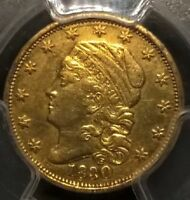 1830 $2.50 CAPPED BUST QUARTER EAGLE GOLD   PCGS AU DETAILS