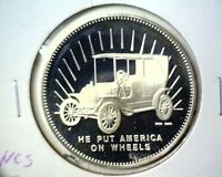 1970 HENRY FORD STERLING SILVER PROOF MEDAL NCS .925 FINE  1 OZ ASW MODEL T