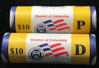 2009 DISTRICT OF COLUMBIA  PHIL. AND DENVER  MINT QUARTER ROLLS      2 ROLLS