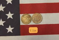 1864 & 1865  2C PIECES TWO CENT   LOW GRADE   NEARLY GOOD  Z204