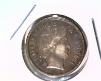 1904 BARBER DIME ABOUT UNCIRCULATED