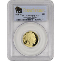 2008 W AMERICAN GOLD BUFFALO PROOF  1/4 OZ  $10   PCGS PR69 DCAM   FIRST STRIKE