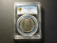 1972 NICKEL DOLLAR PCGS SHIELD MS 64 NICE BUSINESS STRIKE