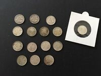 SET OF KGVI KGVI QWII 3D <THREE PENCE> 1921 1964 15 COINS SO