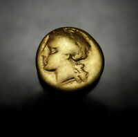 SICILY. SYRACUSE. AGATHOCLES 1/4 GOLD STATER.  ANCIENT GREEK CARTHAGE COIN