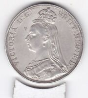 1889  QUEEN VICTORIA LARGE CROWN / FIVE SHILLING COIN  FROM