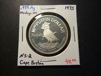 MINTAGE OF 100   NS2 1975 CAPE BRETON MCPUFFIN NS .999 SILVER PROOF