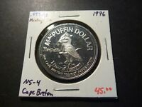 MINTAGE OF 100   NS4 1976 CAPE BRETON MCPUFFIN NS .999 AG STEAM TRAIN