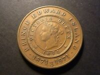 1971 PEI DECIMAL COINAGE MEDAL BRONZE ANTIQUE FINISH