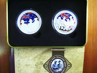 2005 $1 SILVER PROOF TWO COIN SET: