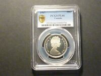 CANADA 1967 SILVER 50C PCGS SHIELD PL66  STRONG UNMENTIONED CAMEO