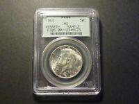1964 KENNEDY HALF DOLLAR PCGS MS SAMPLE GREEN LABEL