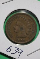 1907 INDIAN HEAD CENT PENNY COPPER EXACT COIN PICTURED FLAT RATE SHIPPING 0639