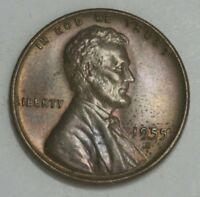 1955 S LINCOLN CENT PENNY BU WITH SOME TONING