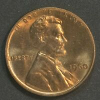 1960  P  LINCOLN CENT PENNY LARGE DATE TONING