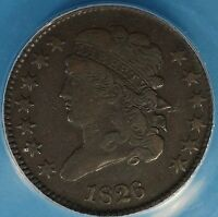 1826 CLASSIC HEAD HALF CENT ANACS VF30  NICE LOOKIN EARLY COPPER
