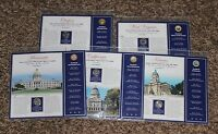 THE UNITED STATES 2005 UNCIRCULATED QUARTERS WITH HISTORIES  5 IN SET
