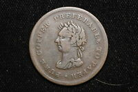 1838 CANADA. ONE PENNY. TRADE & NAVIGATION.  CH NS 22