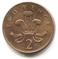 GREAT BRITAIN 1993 TWO PENCE COIN   UNITED KINGDOM ENGLAND QUEEN ELIZABETH II