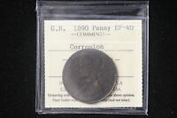1890 GREAT BRITAIN. PENNY. ICCS GRADED.