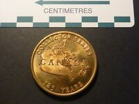 1992 CANADA 125 COLLECTOR SERIES LIMITED EDITION MEDAL BRONZE 38 MM