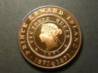 1971 PEI MEDAL STRUCK IN PROOF COPPER BRIGHT RED 36 MM 1