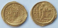 BYZANTINE COIN: JUSTINIAN I GOLD SOLIDUS 527 565AD
