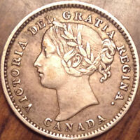 1898 OBV6 CANADA SILVER 10 CENTS IN