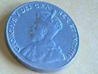 1922 5C CANADA 5 CENTS KING GEORGE V