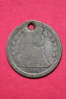 CULL 1856 P SEATED LIBERTY HALF DIME EXACT COIN SHOWN FLAT RATE SHIPPING OCE 165