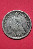 CULL 1858 P SEATED LIBERTY HALF DIME EXACT COIN SHOWN FLAT RATE SHIPPING OCE 207