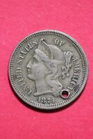 LOW GRADE 1874 THREE 3 CENT LIBERTY NICKEL EXACT COIN FLAT RATE SHIPPING OCE 343