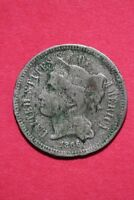LOW GRADE 1866 THREE 3 CENT LIBERTY NICKEL EXACT COIN FLAT RATE SHIPPING OCE 316
