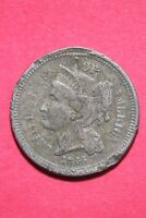 LOW GRADE 1865 THREE 3 CENT LIBERTY NICKEL EXACT COIN FLAT RATE SHIPPING OCE 326